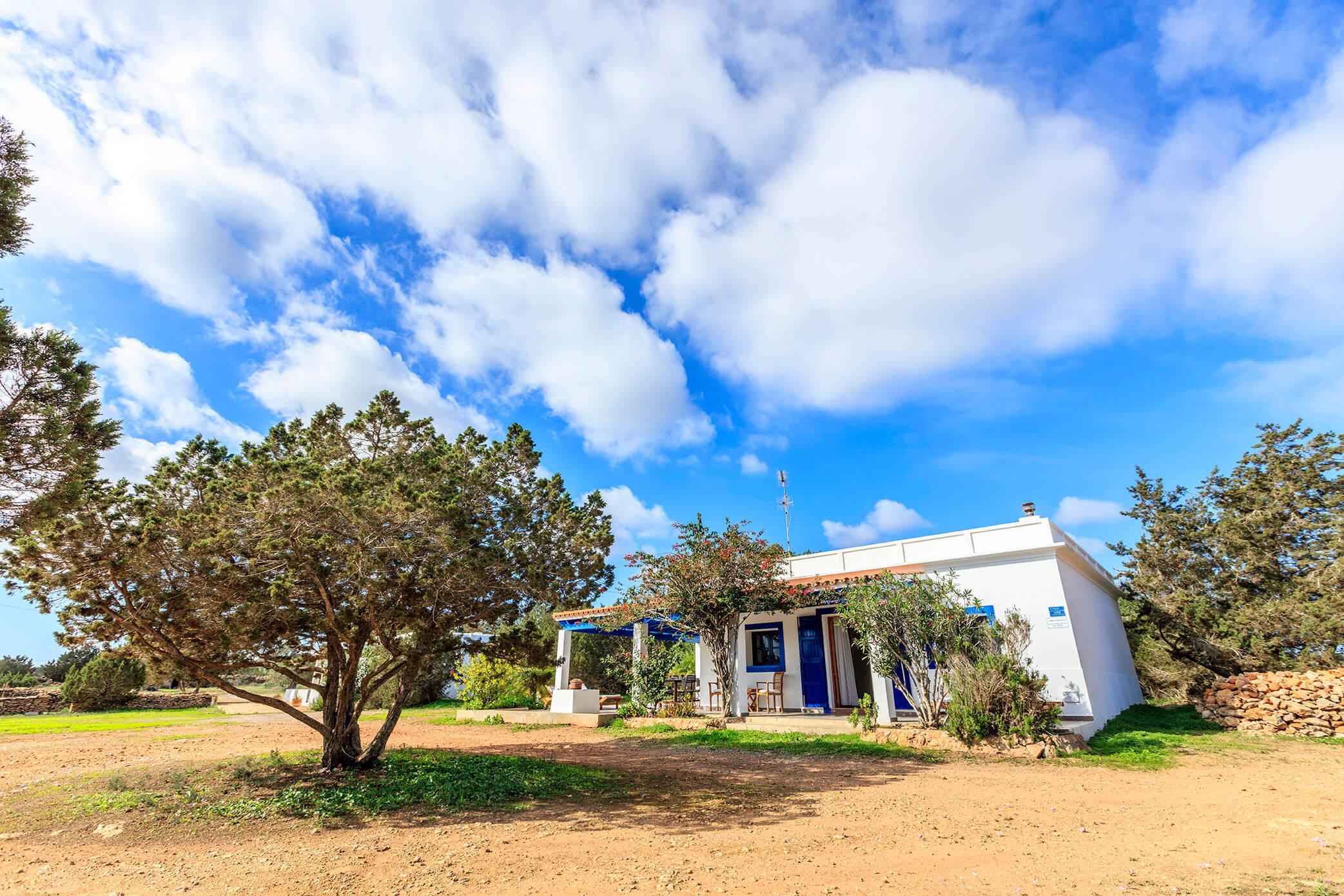 Casa rural con jardín en Formentera. Entorno rural. Alojamientos turísticos Cardona. Can Carlets