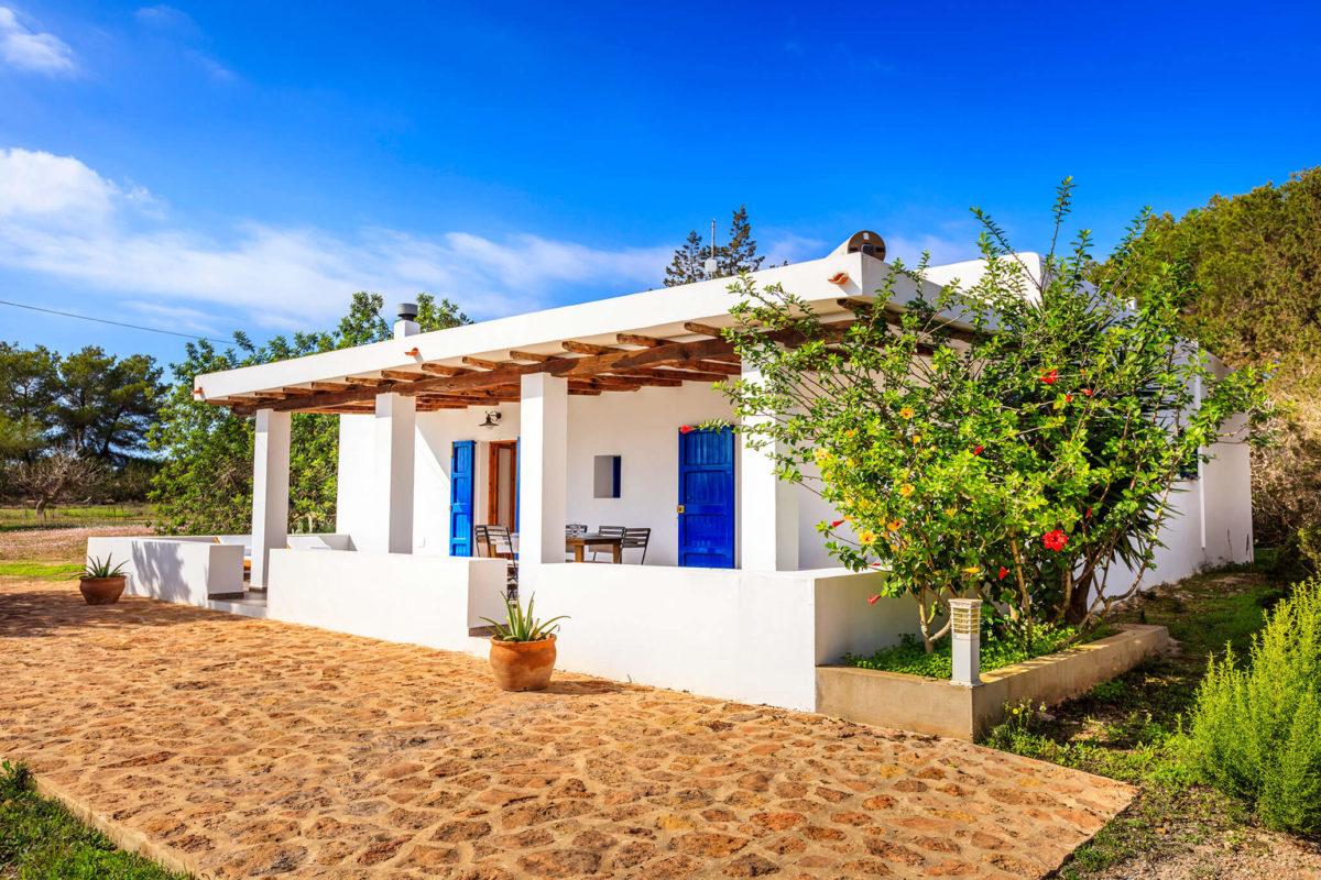 Vista exterior Casa rural en Formentera. Alojamientos turísticos Cardona. Can Carlets II
