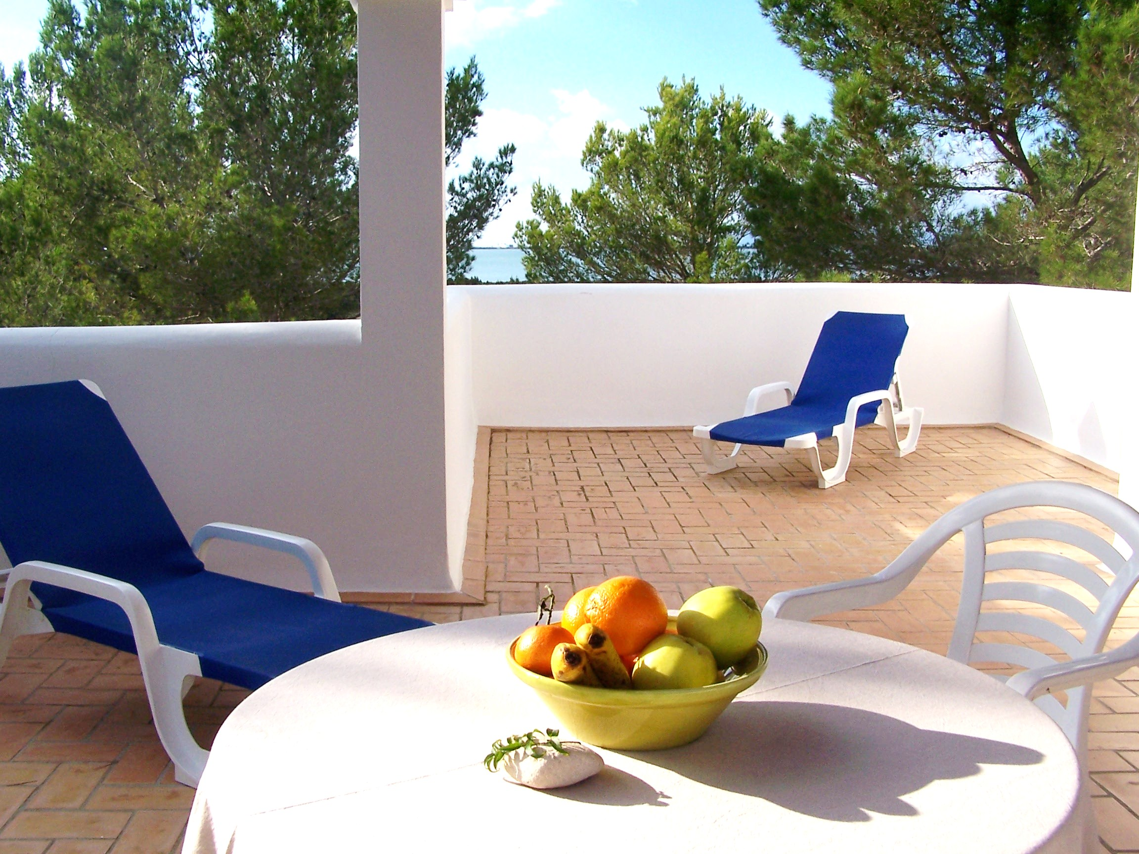 Estudio vacacional en Formentera. Terraza privada. Alojamientos turísticos Cardona